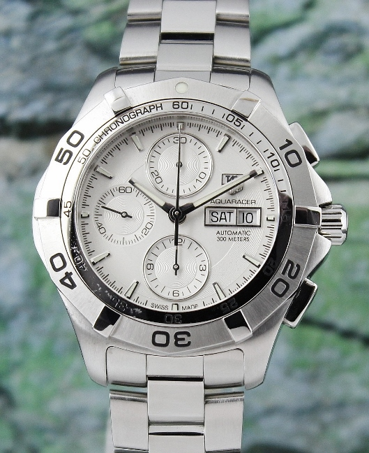 A TAG HEUER MEN SIZE DAY-DATE CHRONOGRAPH / CAF2011