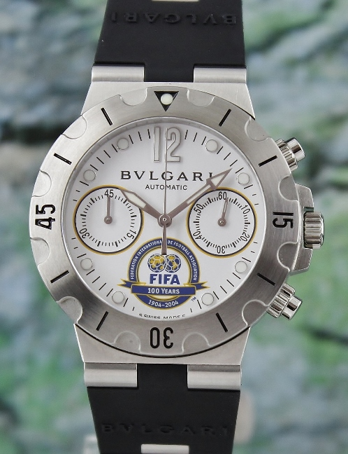 NEW UNWORN Bvlgari Diagono Scuba SC38 FIFA Limited Edition Automatic Watch