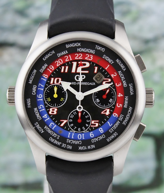 Girard Perregaux World Timer WW TC Titanium Chronograph Automatic Watch / 4980