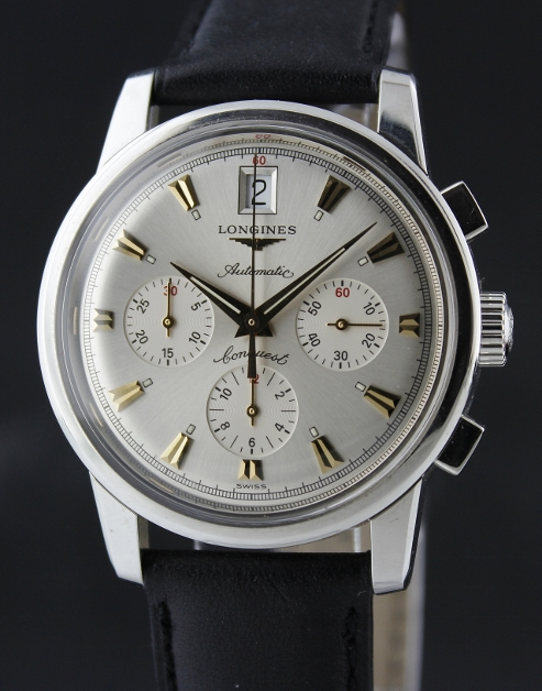 A Longines Conquest Heritage Chronograph Stainless Steel / L1.641.4