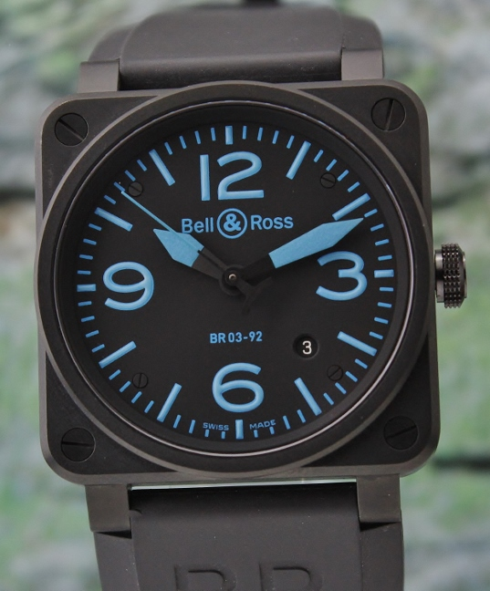 BELL & ROSS STAINLESS STEEL PVD AUTOMATIC WATCH / BR03-92
