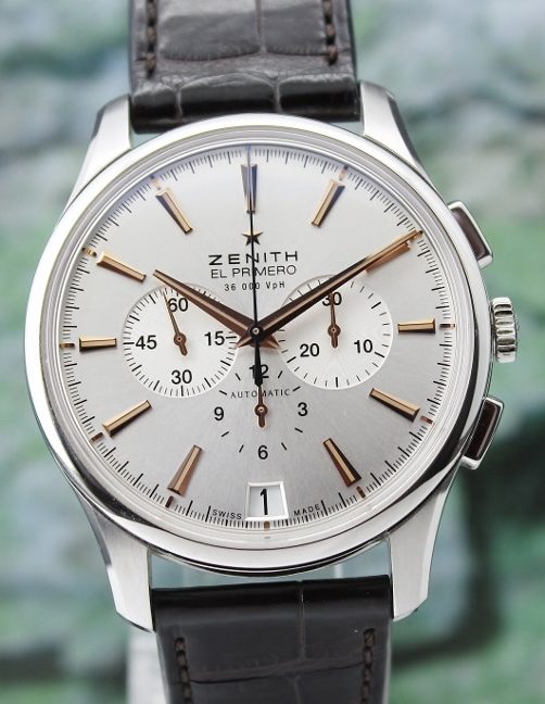 Zenith Stainless Steel Captain Chronograph Automatic Watch / 03.2110.400