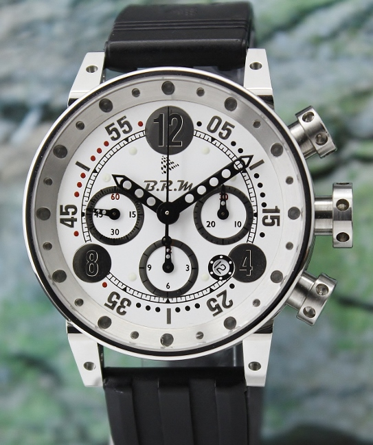 A BRM AUTOMATIC CHRONOGRAPH STAINLESS STEEL WATCH