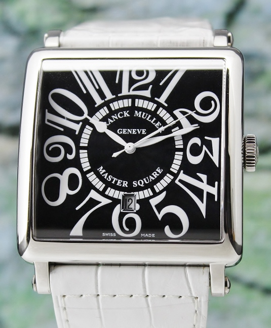 UNWORN FRANCK MULLER JUMBO SIZE STAINLESS STEEL MASTER SQUARE AUTOMATIC / 6000K SC DT V - Click Image to Close