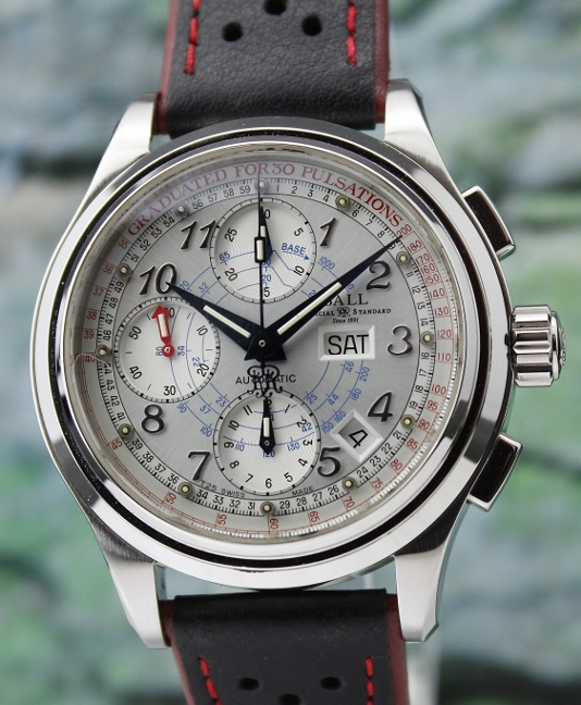 BALL TRAINMASTER PULSOMETER CHRONOMETER AUTOMATIC CHRONOGRAPH WATCH / CM1010D