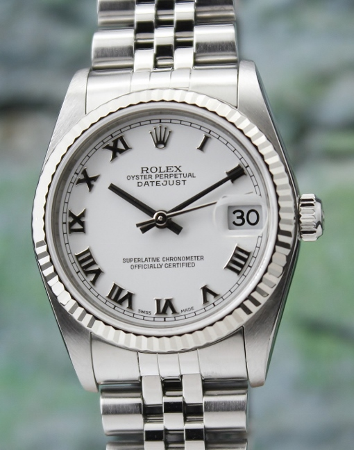 A ROLEX MID SIZE OYSTER PERPETUAL DATEJUST - 78274