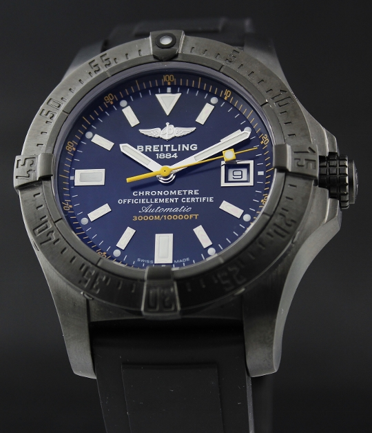 A Breitling Limited Edition 100 Pieces Avenger Seawolf Black Steel / M17330