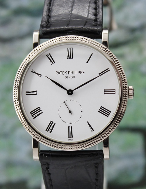 A PATEK PHILIPPE 18K WHITE GOLD MANUAL WINDING / 5119G