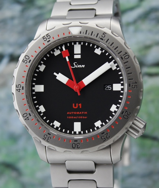 LIKE NEW SINN U1 DIVER'S WATCH / 1010.010-U1-R
