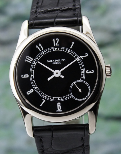 LIKE NEW PATEK PHILIPPE 18K WHITE GOLD AUTOMATIC WATCH / REF 5000 G