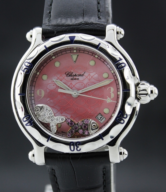 "A CHOPARD STAINLESS STEEL HAPPY FISH ""MOP"" / 8347"