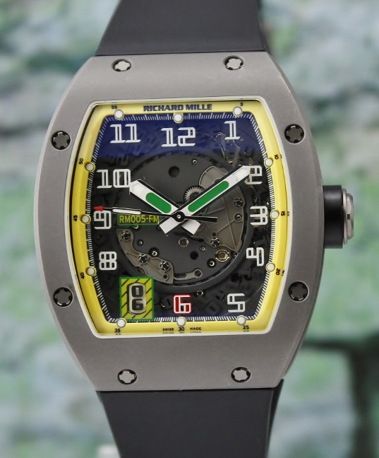Rare Find Richard Mille RM 005 Titanium Felipe Massa Limited 300 Pieces