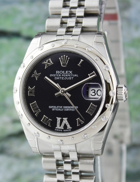 UNWORN ROLEX MID SIZE STEEL OYSTER PERPETUAL DATEJUST /178344