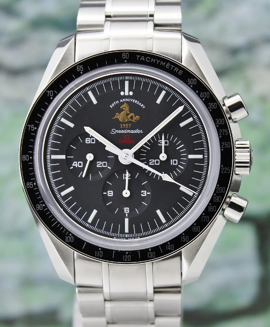 Mint Omega Speedmaster 50th Anniversary Edition Moon Watch Limited 5957 Pieces / 31130423001001