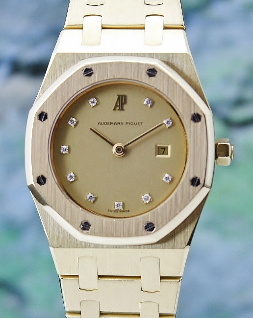 LIKE NEW 100% ORIGINAL AP 18K YELLOW GOLD QUARTZ WATCH