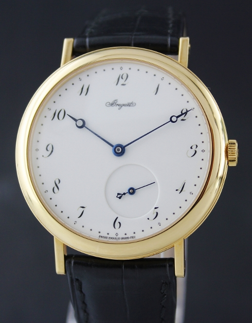Like New Breguet 18K Yellow Gold Automatic Watch / Enamel Dial / 5140BA