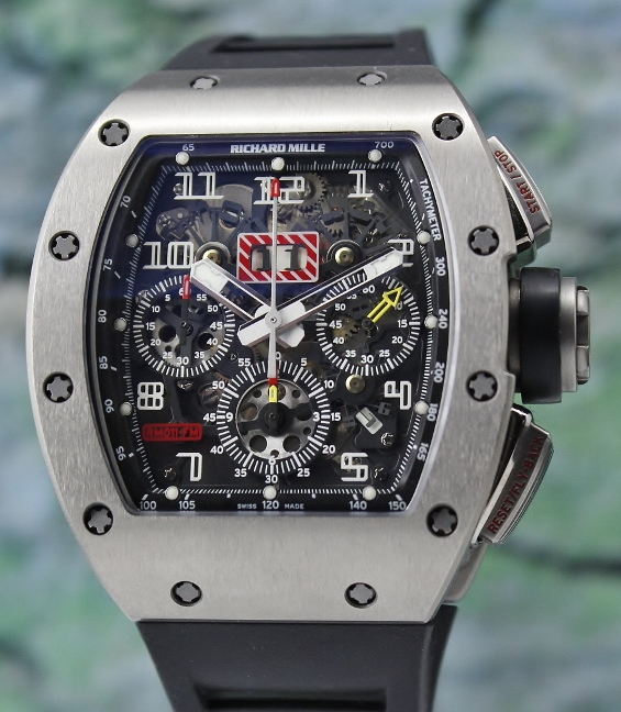 "RICHARD MILLE "" RM 011"" FLYBACK CHRONOGRAPH ANNUAL CALENDAR IN TITANIUM"