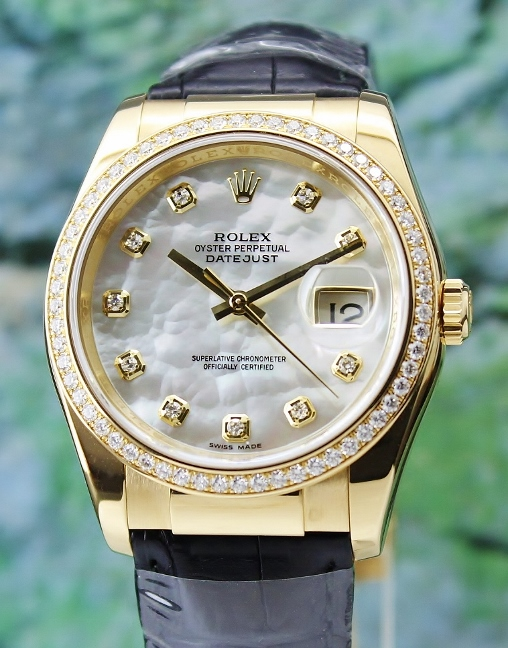 100% ORIGINAL ROLEX MEN SIZE 18K YELLOW GOLD OYSTER PERPETUAL DATEJUST / 116188