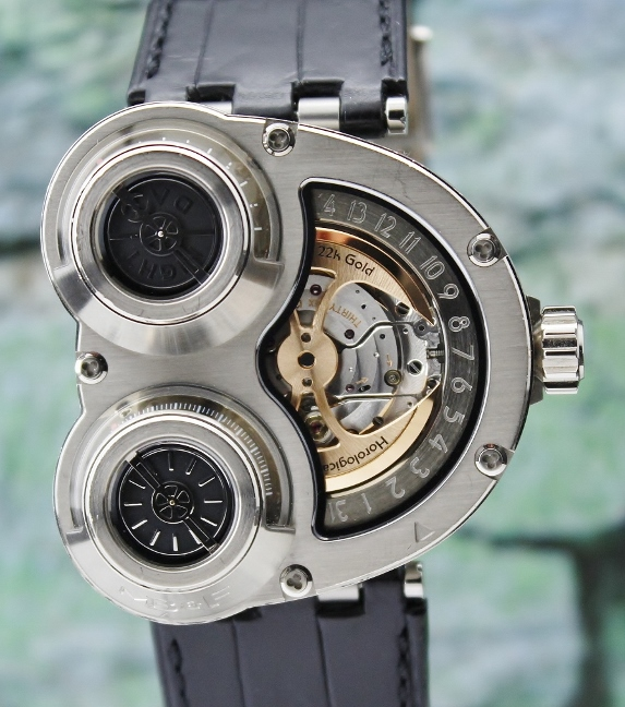 A MB&F 18K WHITE GOLD HOROLOGICAL MACHINE NO 3 / 31.WTL.B