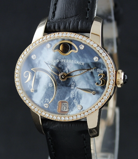 Girard Perregaux Cat's Eye Bi-Retro Moon Phase Rose Gold / 80485D52A761-KK7A