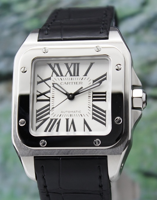 UNWORN LIKE NEW CARTIER MEDIUM SIZE SANTOS 100 / 2878