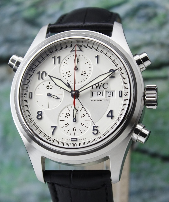 IWC Spitfire Pilot Doppel Chronograph Automatic Watch / IW3713-43