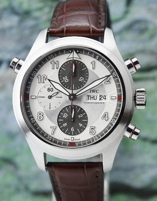 IWC Stainless Steel Spitfire Double Chronograph / IW371806