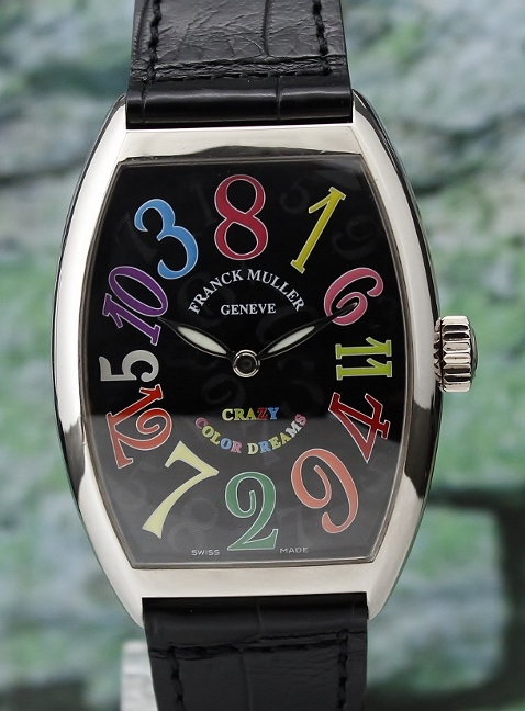 "Franck Muller ""Color Dreams"" 18K White Gold ""Crazy Hour"" Automatic Watch / 7851 CH"