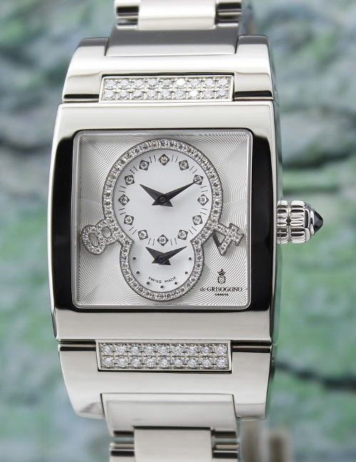 100% ORIGINAL 18K WHITE GOLD DE GRISOGONO DIAMOND WATCH