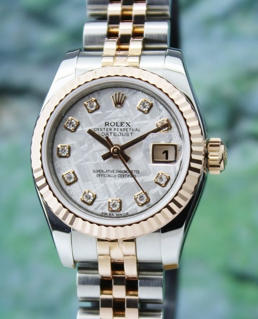 LIKE NEW ROLEX LADY SIZE PINK GOLD OYSTER PERPETUAL DATEJUST- 179171