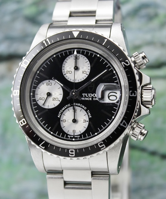 LIKE NEW VINTAGE ROLEX TUDOR OYSTER DATE CHRONOGRAPH / BIG BLOCK / 94210