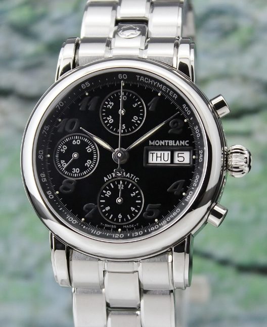 UNPOLISHED LIKE NEW MONT BLANC MEISTERSTUCK DAY-DATE AUTOMATIC WATCH