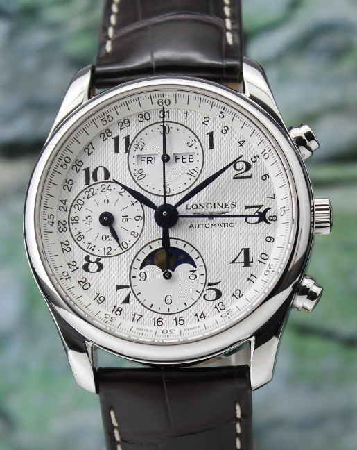 Longines Master Collection Master Complications Chronograph Automatic Moon-Phase Watch / L2.673.4