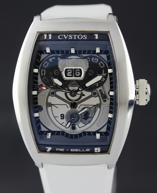 A STAINLESS STEEL CVSTOS CHALLENGE TWIN TIME