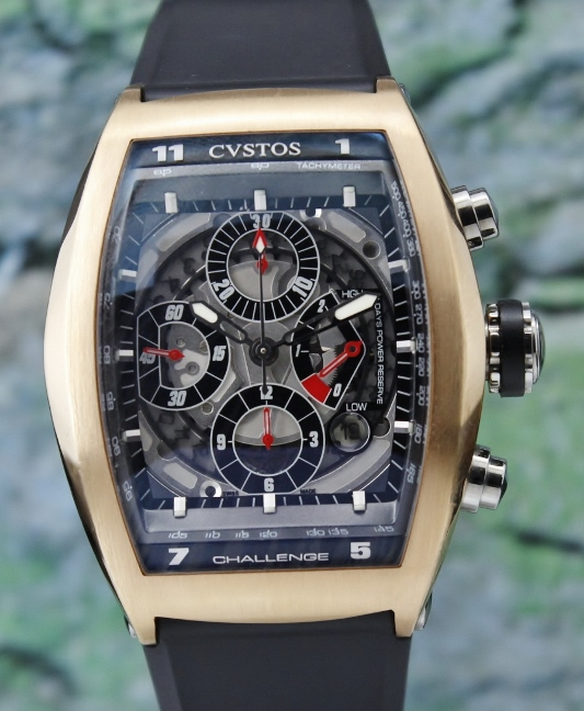 Cvstos 18K Rose Gold Challenger Chronograph Watch / 327 RS