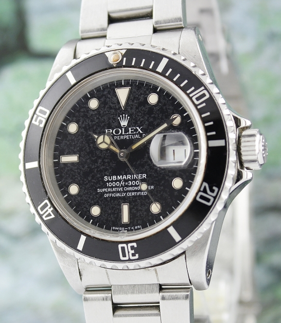 "A ROLEX OYSTER PERPETUAL DATE / SUBMARINER 16800 ""SNOW LEOPARD DIAL"""