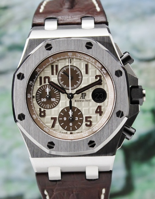 Like New Unpolished Audemars Piguet Offshore Safari Chronograph / 26470ST.OO.A801CR.01