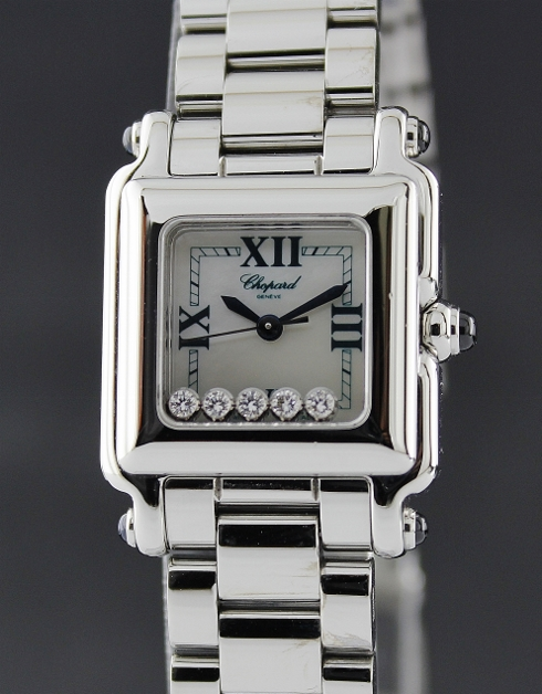 A CHOPARD STAINLESS STEEL HAPPY SPORT / MOP / 8892
