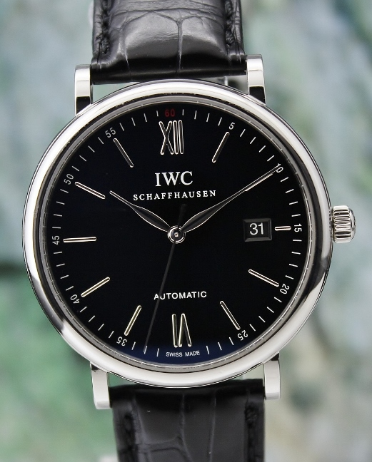 AN IWC STAINLESS STEEL AUTOMATIC PORTOFINO WATCH / IW356308