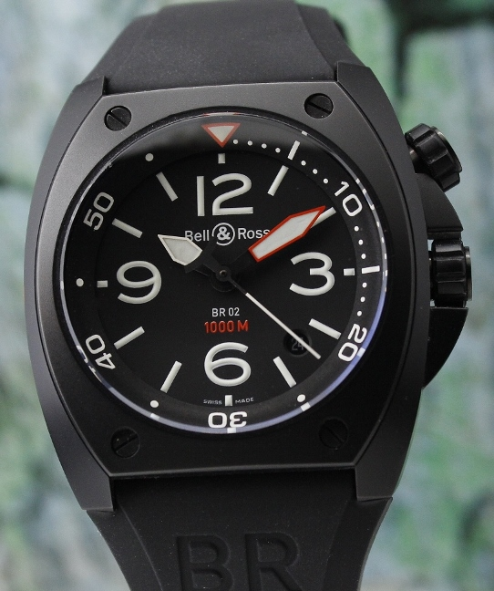 A BELL & ROSS PVD MARINE AUTOMATIC / BR02-20