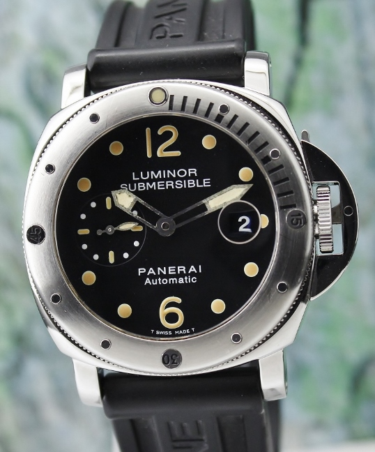 "A Panerai Stainless Steel Pam 24 ""E"" Series Luminor Submersible"