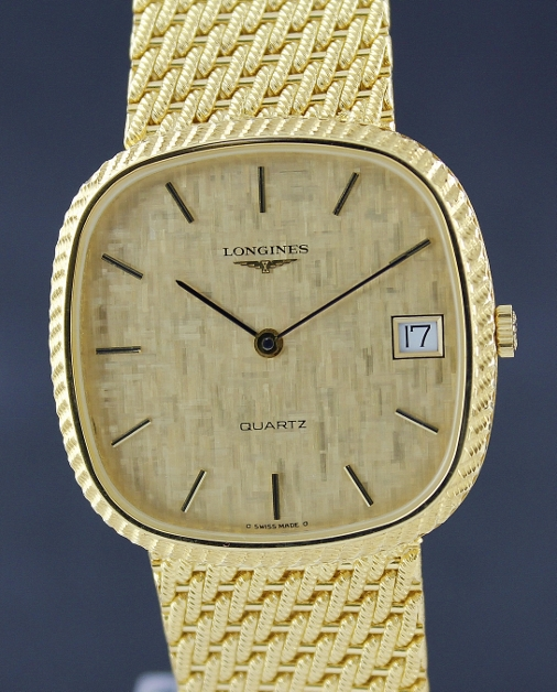 LIKE NEW LONGINES QUARTZ 18K YELLOW GOLD WATCH
