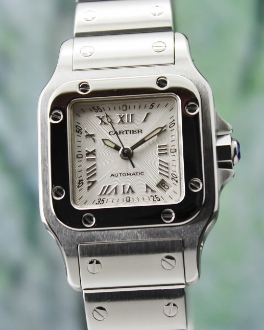 LIKE NEW CARTIER LADY SIZE SANTOS AUTOMATIC WATCH / 2423