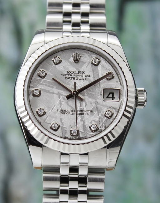 A ROLEX MID SIZE OYSTER PERPETUAL DATEJUST / 178274