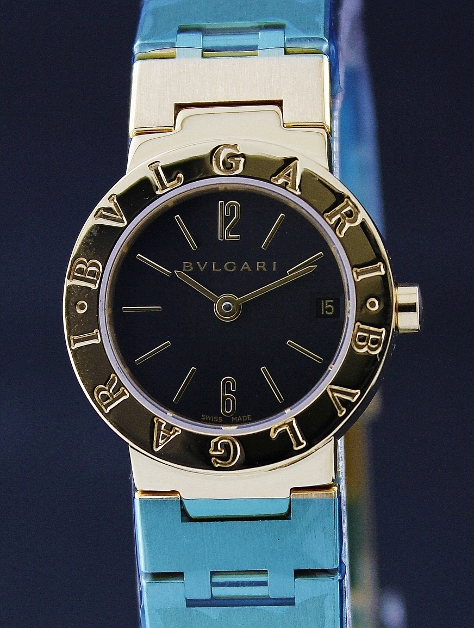 LIKE NEW BVLGARI 18K SOLID GOLD LADY WATCH / BB 23 GGD