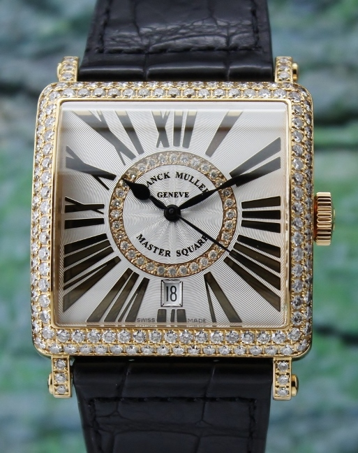 A FRANCK MULLER AUTOMATIC 18K ROSE GOLD MASTER SQUARE / 6002 H SC DT CD 1R