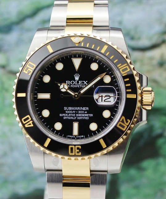99% LIKE NEW ROLEX OYSTER PERPETUAL DATE CERAMIC BEZEL SUBMARINER/ 116613LN