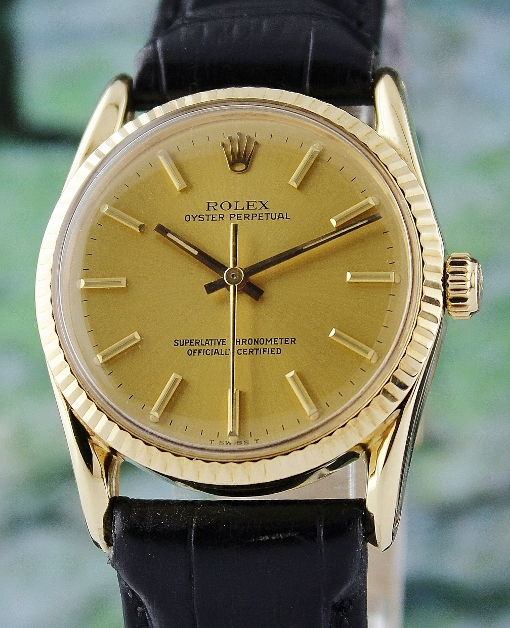 "RARE FIND ROLEX 18K YELLOW GOLD VINTAGE MODEL ""1011"" / BOMBAY LUGS"