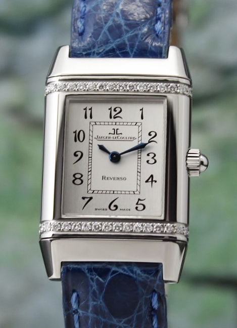 Jaeger-LeCoultre Lady Size Stainless Steel Reverso With Diamonds