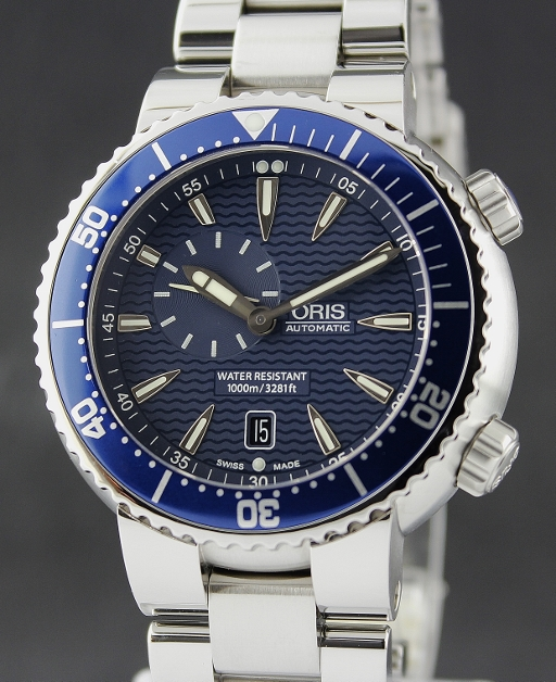 ORIS PRO DIVER AUTOMATIC STAINLESS STEEL WATCH / 016437609 8555